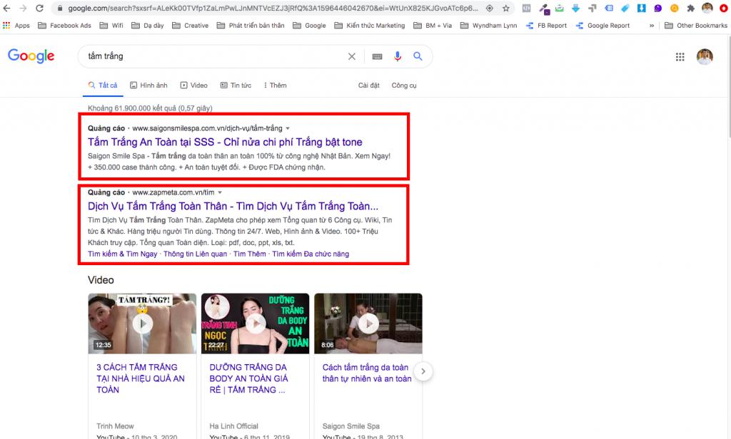 tối ưu google ads search